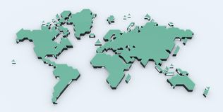 Stylized World Map Royalty Free Stock Photography