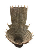 A stylized woven basket. Background Royalty Free Stock Image