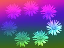 Stylized wreath of dandelions Royalty Free Stock Image