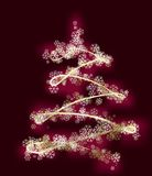 Stylized xmas tree Royalty Free Stock Photos
