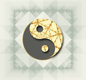 Stylized Yin Yang symbol in color Royalty Free Stock Photo