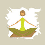 Stylized yoga lotus pose. Stock Photography