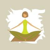 Stylized yoga lotus pose. Stock Photography
