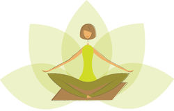 Stylized yoga lotus pose. Stock Images
