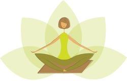 Stylized Yoga Lotus Pose. Stock Images