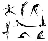 Stylized Yoga people Stock Photos