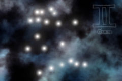 Stylized Zodiac background Stock Image