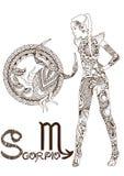 Stylized zodiac sign of Scorpio Stock Image