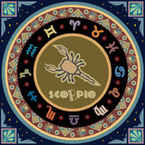 Stylized Zodiac Sign Royalty Free Stock Photography