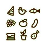 stylizować karmowe ikony Fotografia Royalty Free