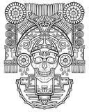 Stylizowana czaszka Pogański bóg śmierć royalty ilustracja