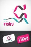 Stylizowana faborku ryba ikona Obraz Royalty Free