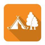 Stylizowana ikona turystyczny namiot Obrazy Royalty Free