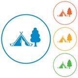 Stylizowana ikona turystyczny namiot Zdjęcie Stock