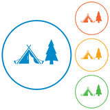 Stylizowana ikona turystyczny namiot Obraz Stock