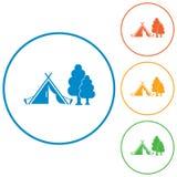 Stylizowana ikona turystyczny namiot Zdjęcie Royalty Free