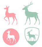Stylizowana ilustracja rogacz i królica Obraz Royalty Free