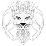 Stylizowana lew głowa Zdjęcia Stock