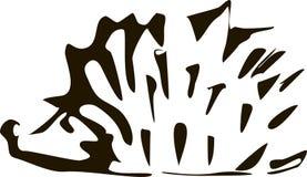 Stylizowana odosobniona sylwetka kreskówka jeż na białym tło wektorze ilustracja wektor