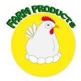 Stylizowana sylwetka kurczak Ilustracja Wektor