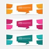 Stylizowana Ustalona Biznesowego projekta sztandaru kolekcja Zdjęcie Royalty Free