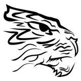 Stylizowana wizerunku tygrysa głowy wektoru ilustracja Fotografia Stock