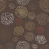 Stylizowane drewniane spirale, ręka rysujący bezszwowy wzór dla wewnętrznego projekta, tapety i ceramiczne płytki, Zdjęcie Royalty Free