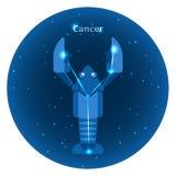 Stylizowane ikony zodiak podpisują wewnątrz nocne niebo z jaskrawym gwiazda gwiazdozbiorem w przodzie Zdjęcie Royalty Free