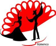 Stylizowane sylwetki żeńscy i męscy flamenco tancerze Zdjęcia Royalty Free