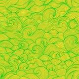 Stylizowane wodne fala i przegrzebka doodle wektor ilustracja wektor