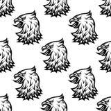 Stylizowanego czarnego orła bezszwowy wzór Obrazy Royalty Free