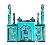 Stylizowanego orientalnego ornamentu bezszwowy wzór Zdjęcie Royalty Free