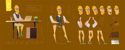 Stylizowani charaktery ustawiający dla animaci royalty ilustracja