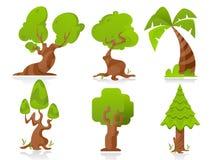 stylizowani drzewa Obrazy Royalty Free