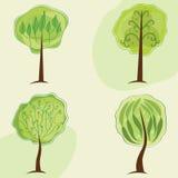 stylizowani drzewa Fotografia Royalty Free