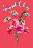 Stylizowani dzicy kwiaty ilustracja wektor