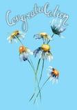 Stylizowani dzicy kwiaty royalty ilustracja