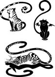 Stylizowani koty elegancja i pełen wdzięku koty -. ilustracja wektor