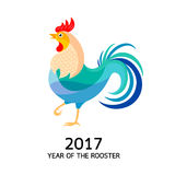 Stylizowani kurczaki Koguty ilustracyjni Zdjęcia Royalty Free