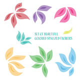 Stylizowani kwiaty Zdjęcia Royalty Free