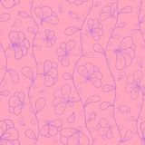 Stylizowani kwiaty w pastelowych różowych i fiołka kolorach Fotografia Royalty Free
