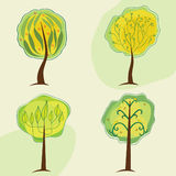 stylizowani mieszanek drzewa Zdjęcia Stock
