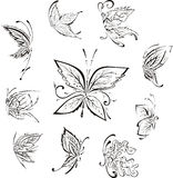 Stylizowani motyle Zdjęcia Stock