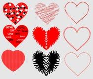 Stylizowani serca ilustracji