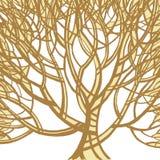 Stylizowany abstrakcjonistyczny brown drzewo Sztuki ilustracja Zdjęcia Royalty Free