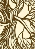 Stylizowany abstrakcjonistyczny rocznika drzewo royalty ilustracja