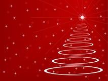 stylizowany Bożego Narodzenia drzewo Ilustracja Wektor