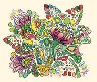 Stylizowany bukiet jaskrawi lato kwiaty Fotografia Royalty Free