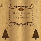 Stylizowany drewniany Bożenarodzeniowy tło Fotografia Royalty Free