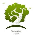 Stylizowany drzewo Zdjęcia Royalty Free